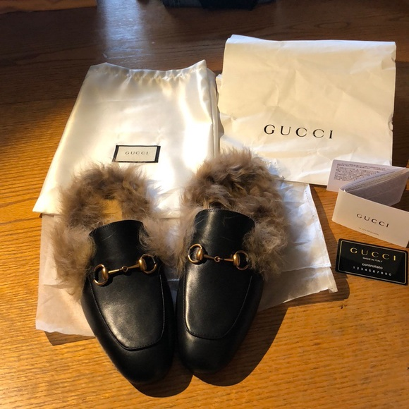 3bc7f2f2304895 Gucci Other - Men s Gucci Fur lined Mule black slippers